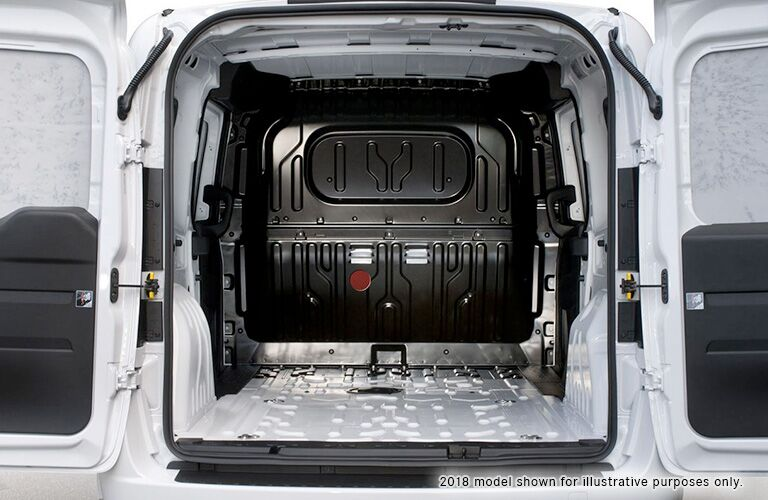 Ram ProMaster City with with rear cargo doors open