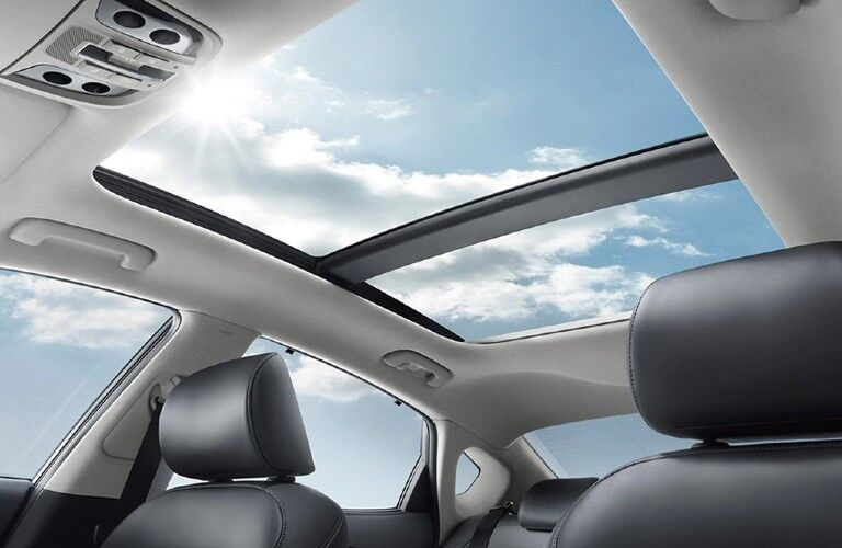Sunroof inside the 2019 Kia Cadenza