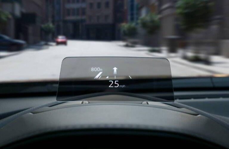 Head-up display inside the 2019 Mazda CX-3