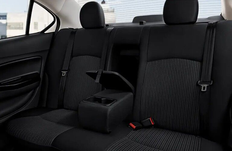 Rear seats in the 2019 Mitsubishi Mirage G4