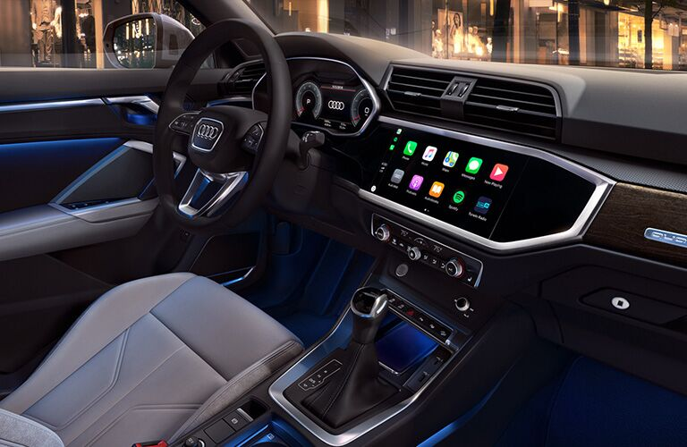 2020 Audi Q3 dash and infotainment system
