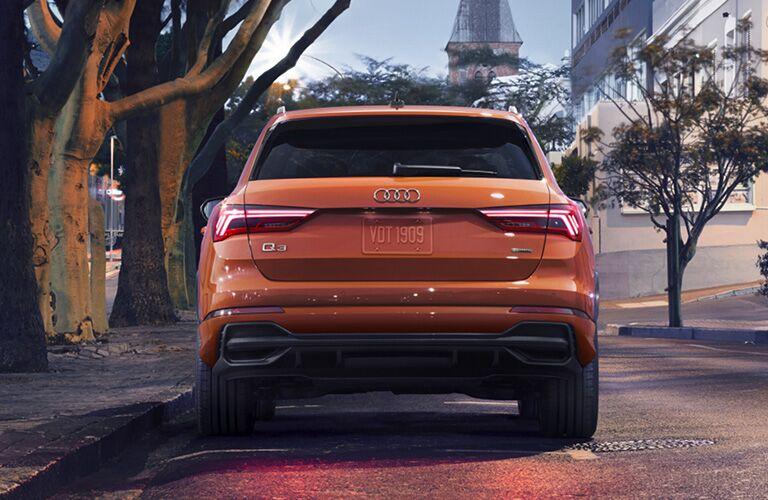 2020 Audi Q3 orange back view