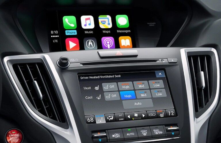 Close up of the touchscreen display inside the 2020 Acura TLX
