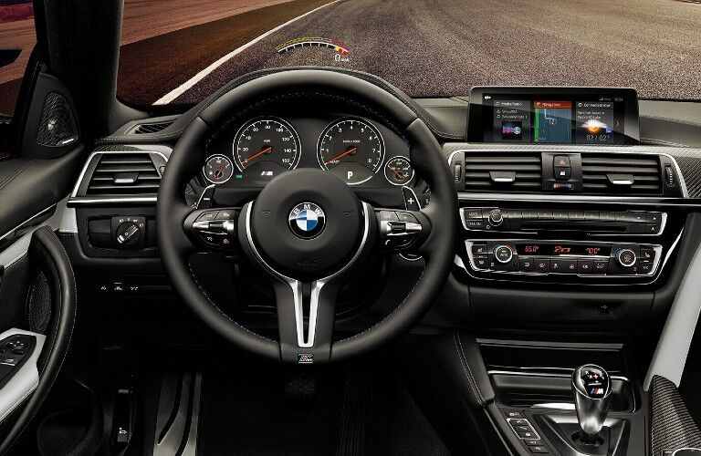 Front interior in the 2020 BMW 4 Series