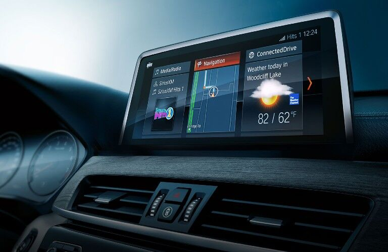 Close up of the touchscreen display inside the 2020 BMW X1