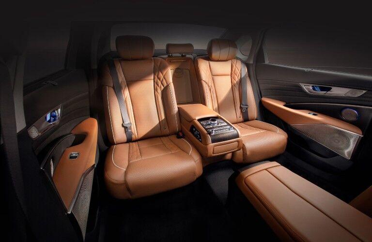 Rear seats inside the 2020 Kia K900