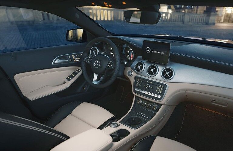 Front interior in the 2020 Mercedes-Benz GLA