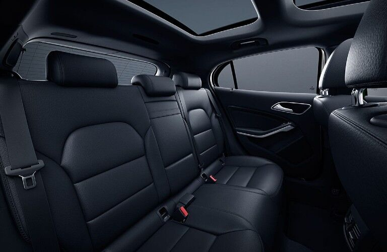 Back seats in the 2020 Mercedes-Benz GLA