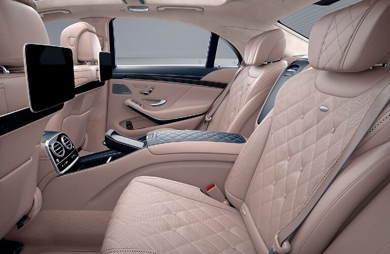 Rear seats in the 2020 Mercedes-Benz S-Class