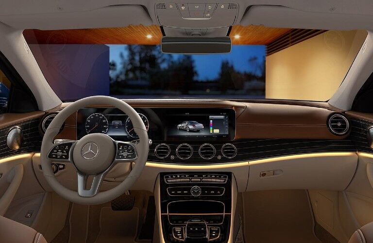 Front interior in the 2020 Mercedes-Benz E-Class