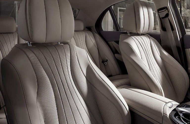 Close up of the seats inside the 2020 Mercedes-Benz E-Class