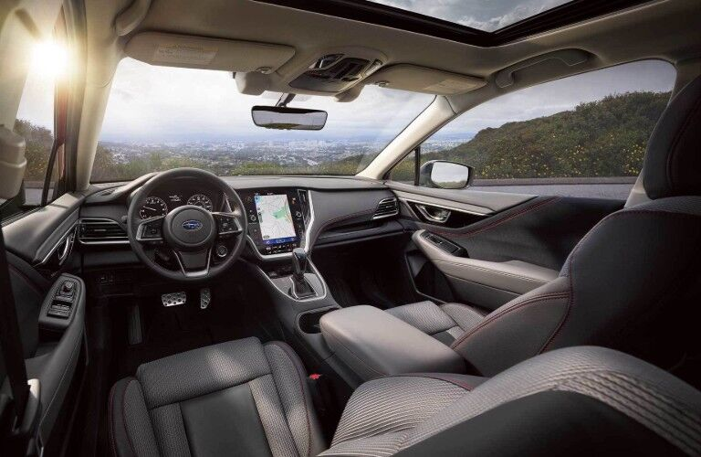 Front interior inside the 2020 Subaru Legacy