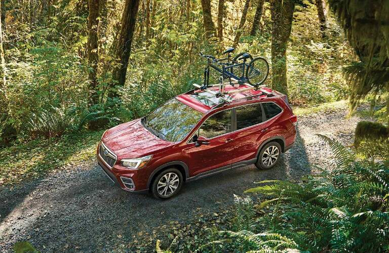 Subaru Forester driving on an off-road trail