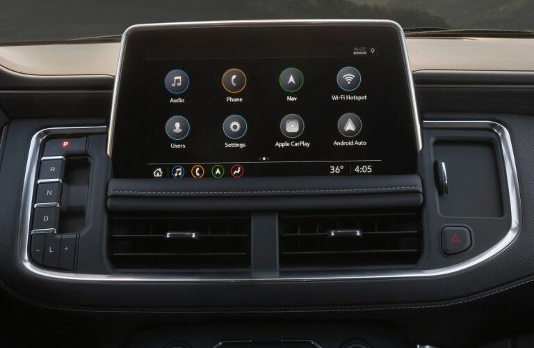 Touchscreen display inside the 2020 GMC Yukon