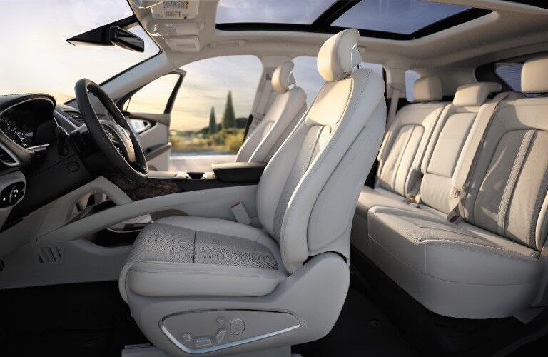 Seats inside the 2017 Lincoln MKX