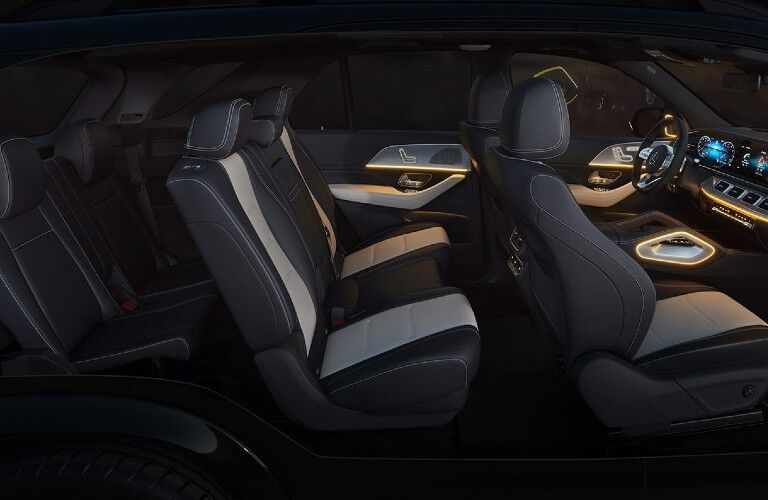 Seats inside the 2021 Mercedes-Benz GLE