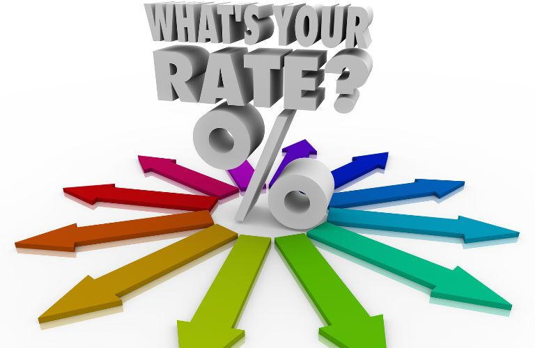 What's your rate percentage text