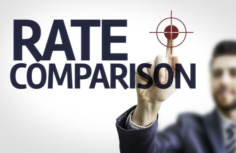 Rate comparison text