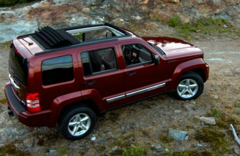 Jeep Liberty driving on an off-road trail