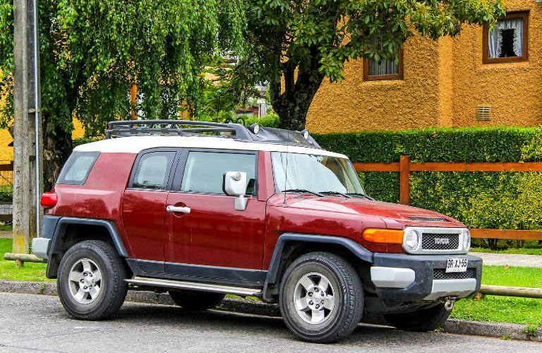 Toyota FJ Cruiser parked on a street