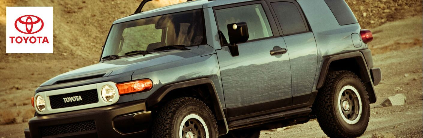 Toyota FJ Cruiser driving on a off-road trail
