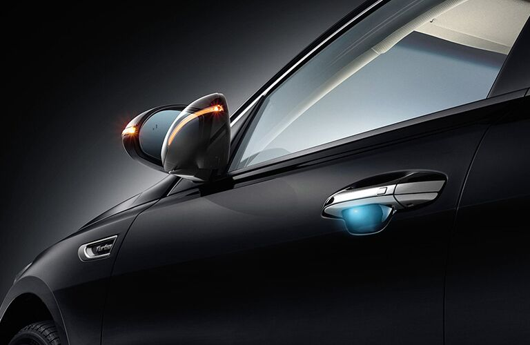 graphic showing kia optima foldable sideview mirror