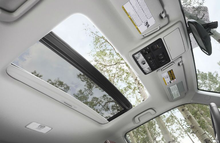 interior view of sunroof in 2018 4runner