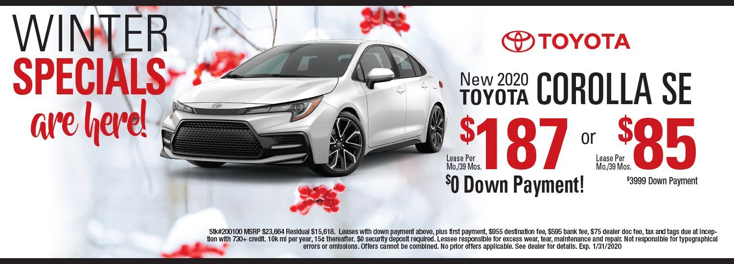 toyota corolla lease special