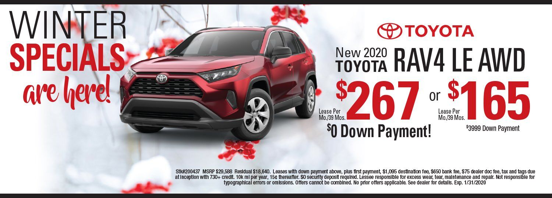 toyota RAV4 lease special