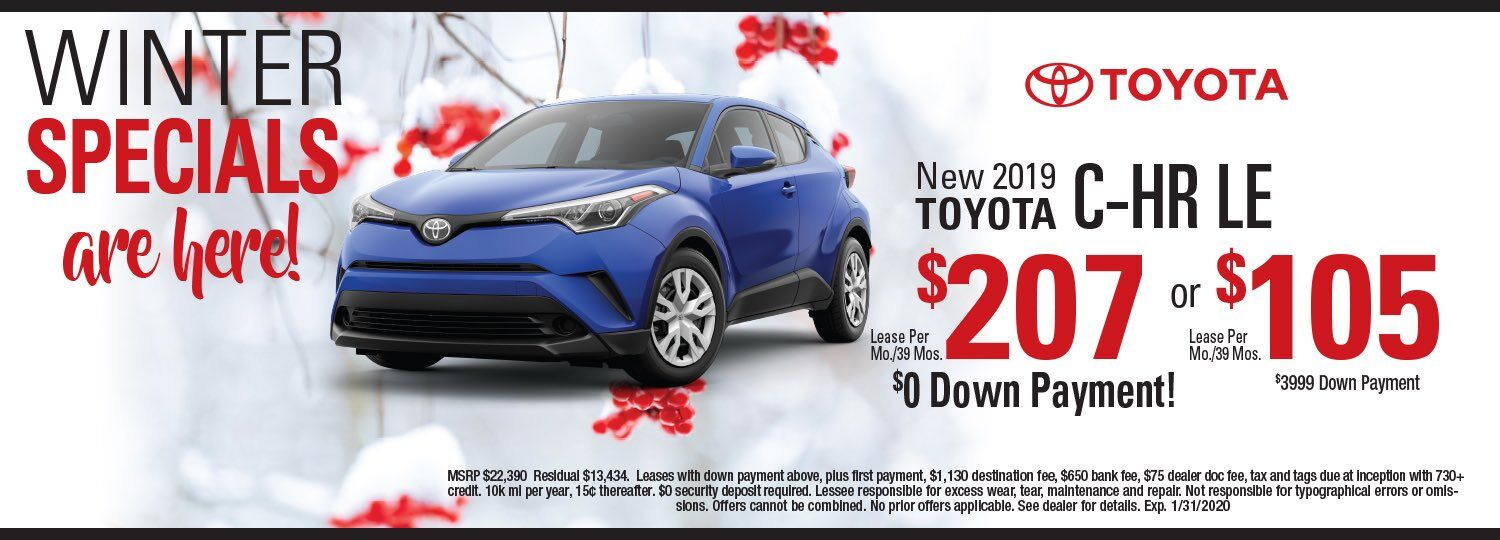 toyota C-HR lease special