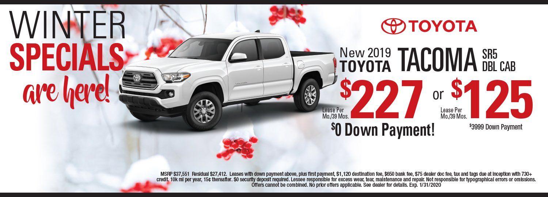 toyota tacoma lease special