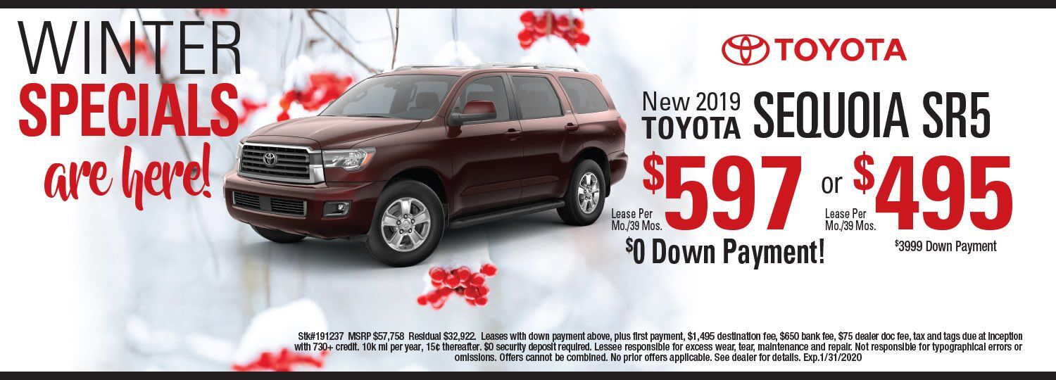 Sequoia Lease Special
