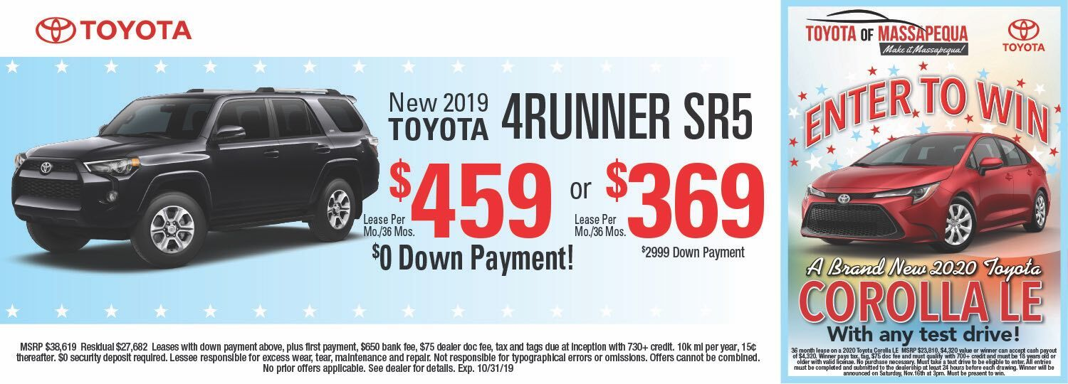 toyota 4runner lease special