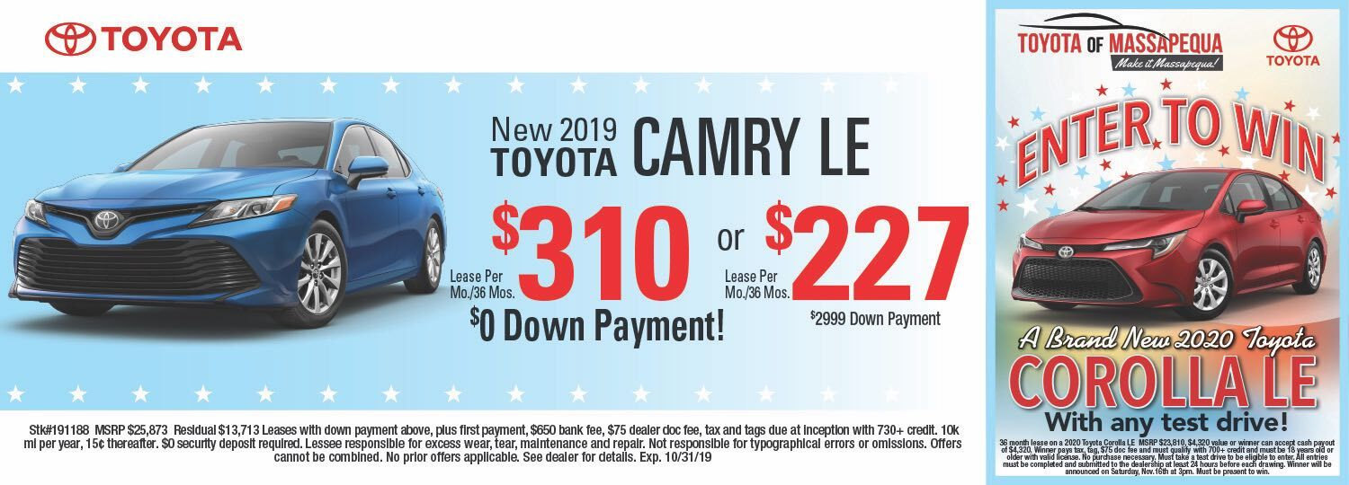 toyota camry lease special