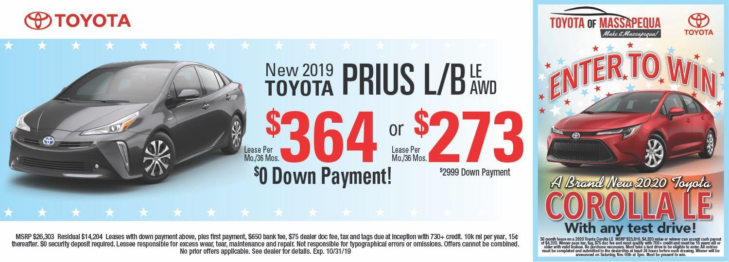 toyota prius lease special