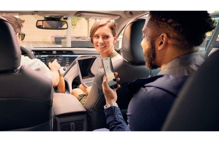2019 Toyota Camry people having fun inside