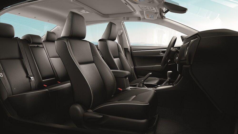 2019 Toyota Corolla Interior Cab Black Leather