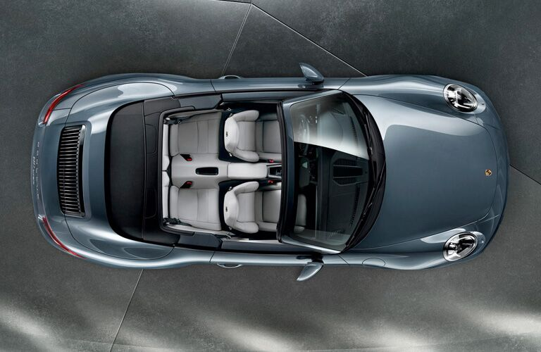porsche 911 carrera from above