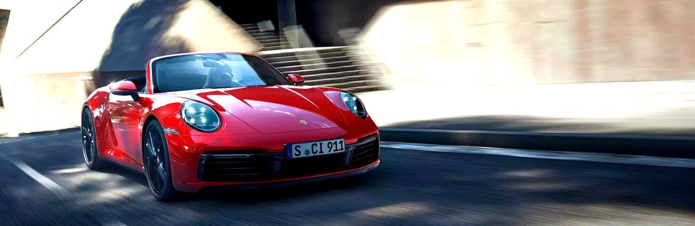 All-New 2020 Porsche 911 driving on road near Kansas City