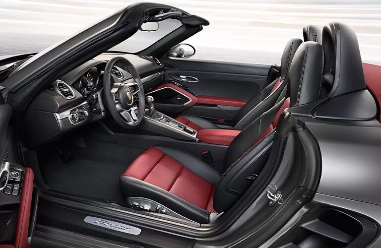 2021 Porsche 718 Boxster front seats and dashboard