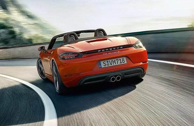 2021 Porsche 718 Boxster on curving road