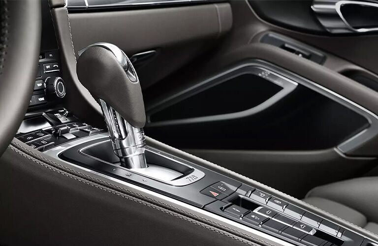2021 Porsche 718 Boxster center stack and shifter