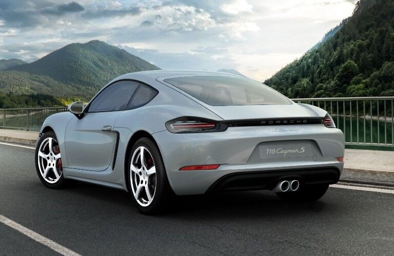 2021 Porsche 718 Cayman exterior styling viewed from rear