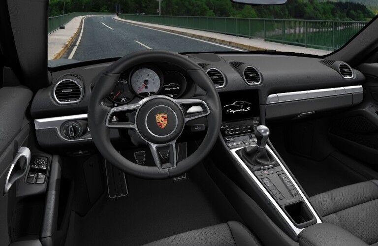 2021 Porsche 718 Cayman dashboard and steering wheel