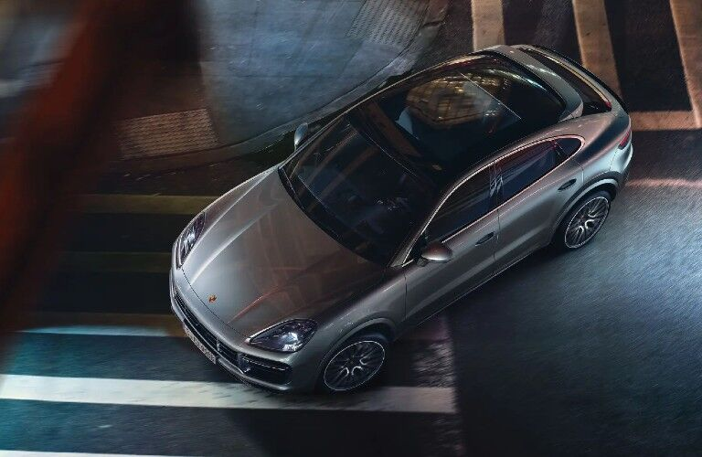 2021 Porsche Cayenne viewed from above