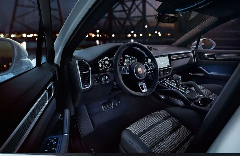 2021 Porsche Cayenne dashboard and steering wheel