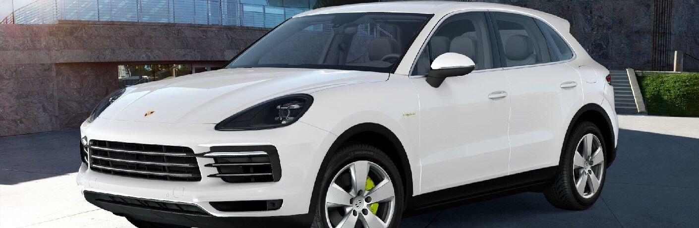 2021 Porsche Cayenne E-Hybrid in modern driveway
