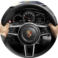 hands on panamera steering wheel