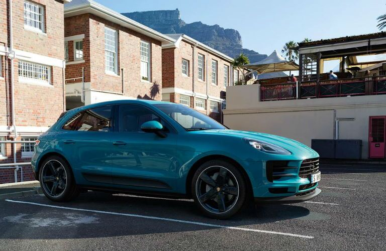 front three quarter shot of 2019 porsche macan