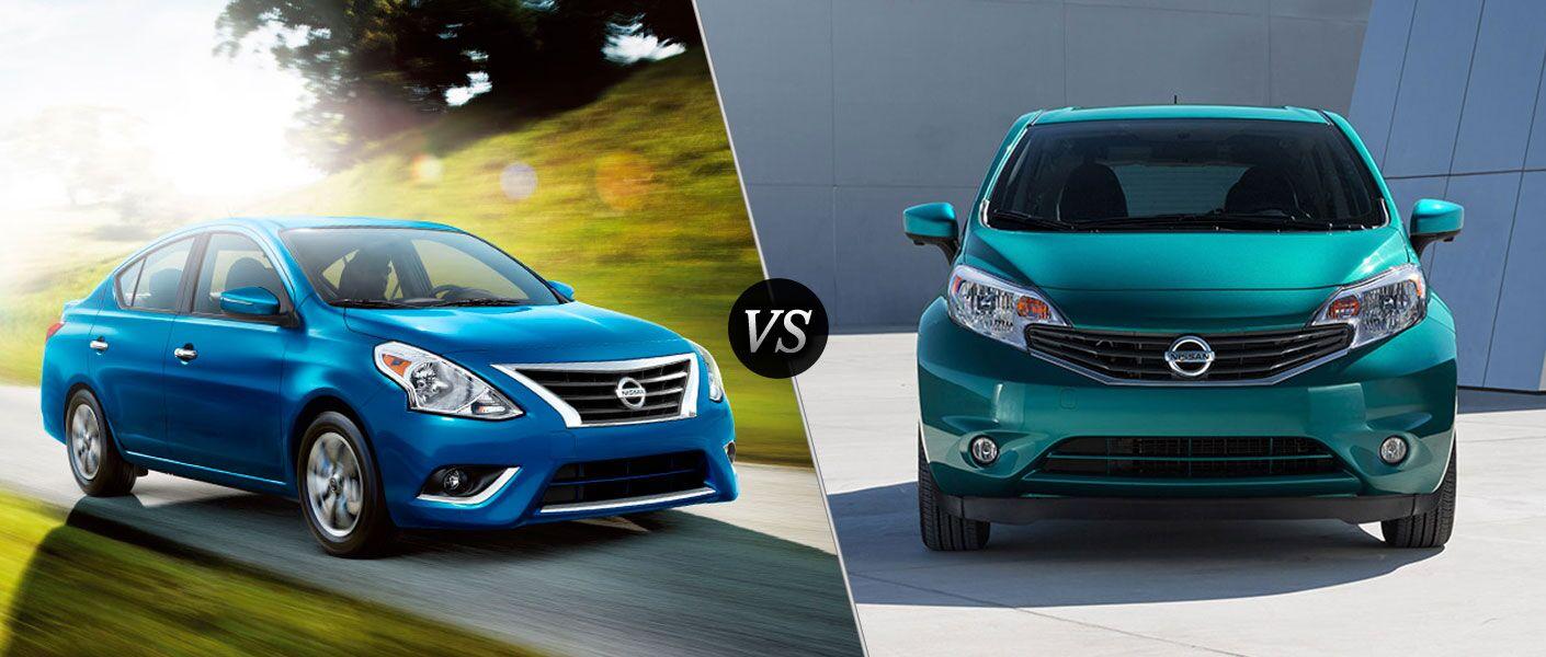 2016 Nissan Versa vs 2016 Nissan Versa Note Winston-Salem NC